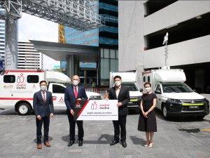 มิตซูบิชิ มอเตอร์ส ประเทศไทย ดัดแปลงมิตซู ไทรทัน สนับสนุนภารกิจเคลื่อนย้ายผู้ป่วยโควิด-19 เพื่อการรักษาตัว เพื่อเข้ารับการรักษาตัวโรงพยาบาล